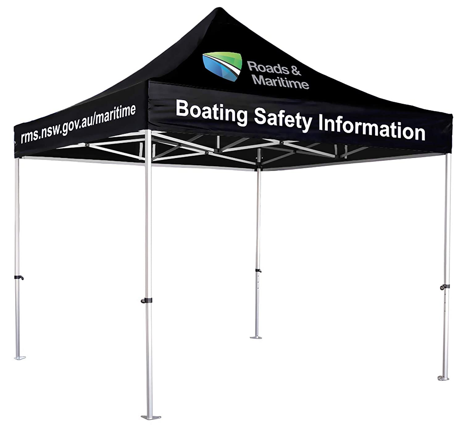 UNIQ SIGNS 10×10 Premium Pop up Canopy Commercial Tent Imprinted Fair Vendor Tent with Your Logo
