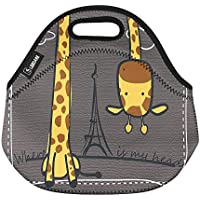 Lunch bag Thermal bags Outdoor Picnic Meal Package for Boys Girls Women Kids-Giraffe