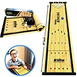Table Top Curling Game or Bowling Game - 2 Fun Family Games for Adults or Kids. It's Way More Fun Than it Looks, Quick and Easy to Set-Up and So Compact for Storage, Fun Games for Teens
