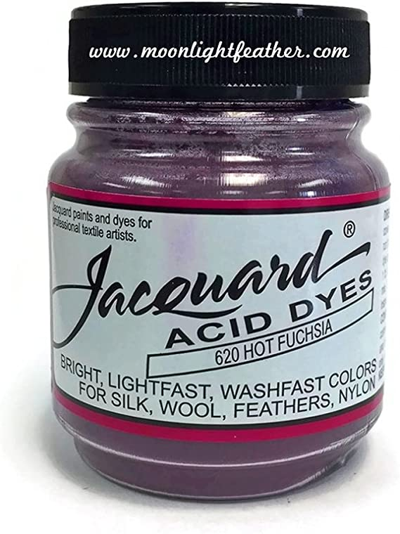 Tintes, 1/2 oz caliente fucsia ácido Jacquard tintes