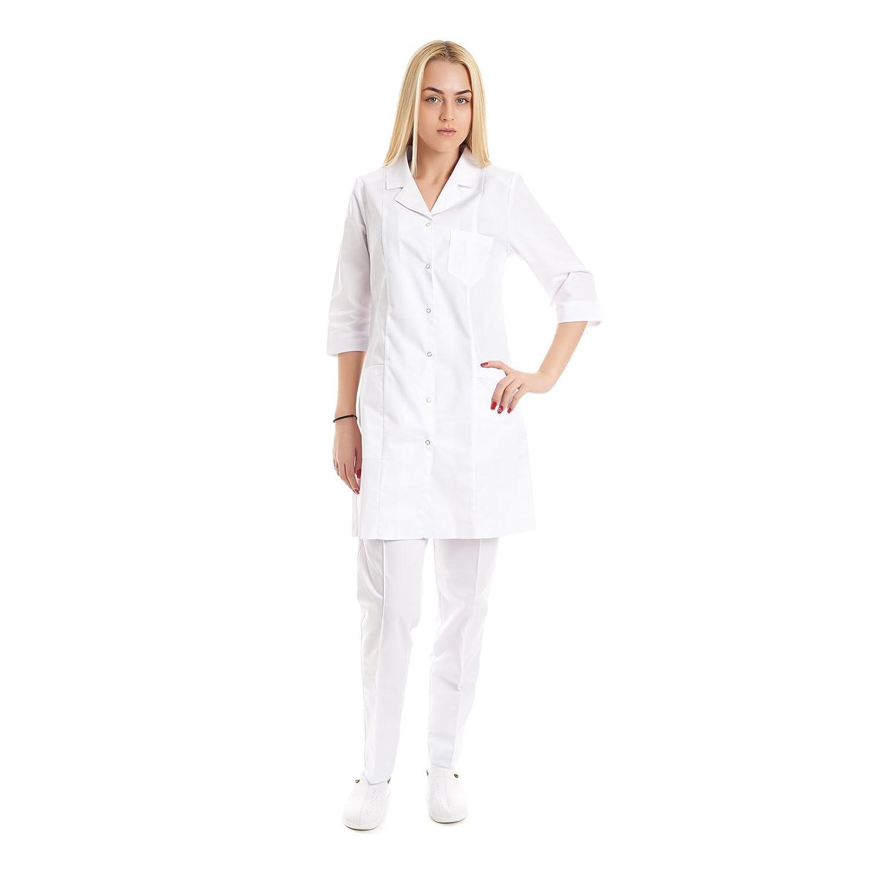 Vest Albus Batas de Laboratorio para Mujer Medida Sanitario: Amazon.es: Ropa y accesorios