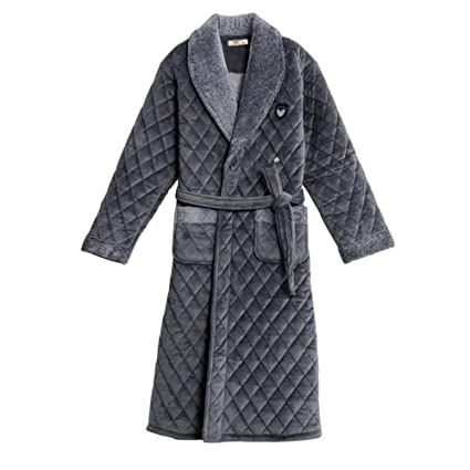 Bathrobe NAN liang Men Towelling Robe 100% Cotton Terry Towel Dressing Gown  Bath Perfect for Gym Shower Spa Hotel Robe Holiday Comfortable (Size   M)   ... 761264256