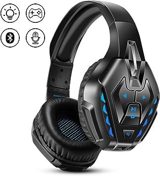 PHOINIKAS Auriculares Gaming para PS4, Auriculares con Cable para Juegos para Xbox One, PC, Nintendo Switch, Auriculares Inalámbricos Bluetooth Music con Mic y 7.1 Bass Surround: Amazon.es: Electrónica