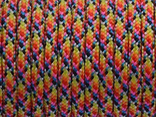 7ストランドコア550lbパラコードパラシュートコードLanyard Milスペックタイプiii-100ft B018XMJZD4 Bright Rainbow(77#)  Bright Rainbow(77#)