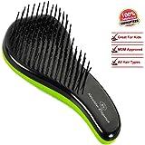Ultimate Detangling Brush. Glide the Hair Detangler Through Knotted Hair. Best Brush / Comb for Women, Girls, Men & Boys. Use in Wet or Dry Hair. No More Tangle - Reduce Hair Loss and Breakage