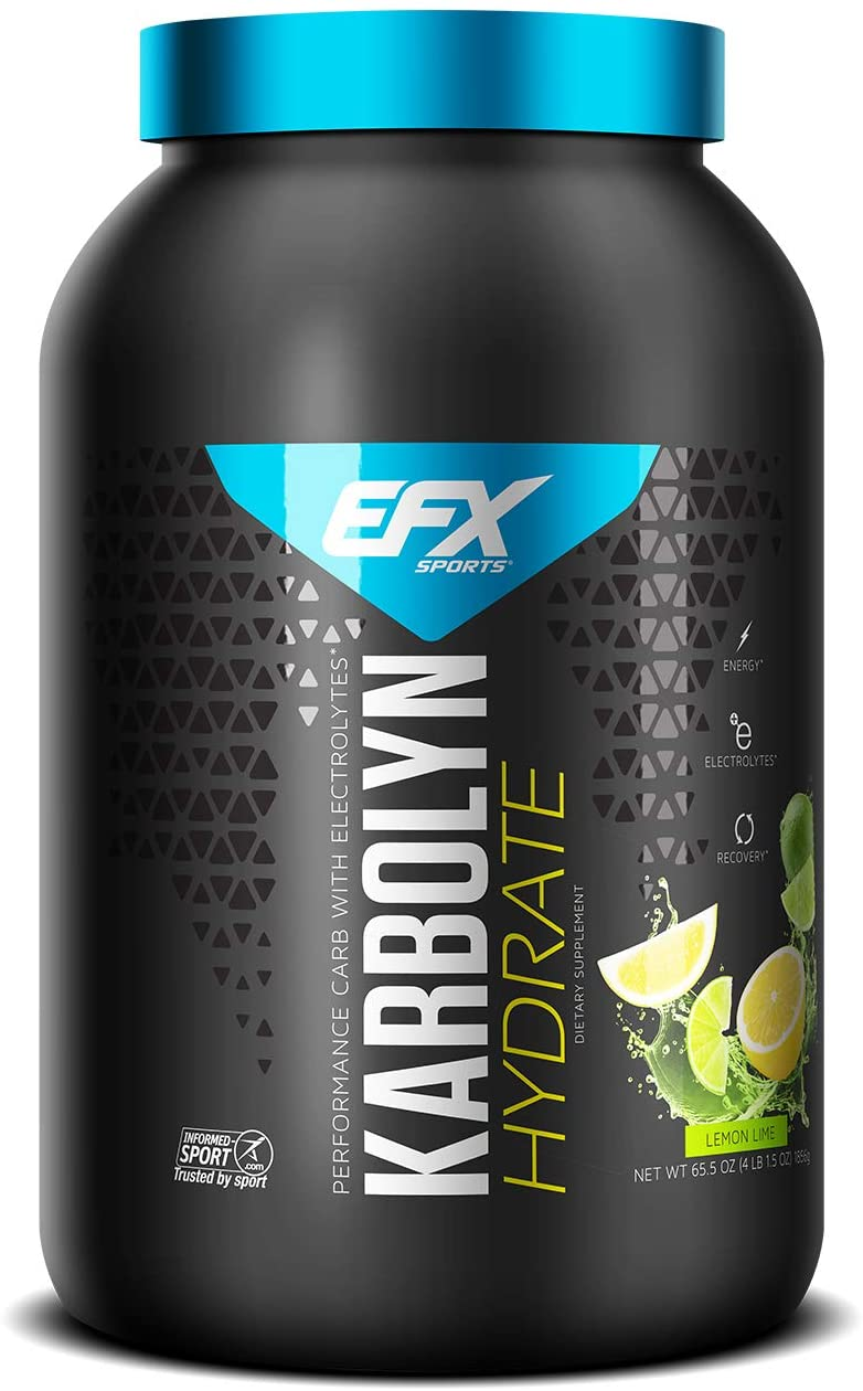 EFX Sports Karbolyn Hydrate   Sugar-Free Sports Drink   Carbohydrate Supplement Powder + Electrolytes   Carb Load, Energize, Improve & Recover Faster   Easy to Mix   Lemon Lime (4 LB 1.5 OZ)