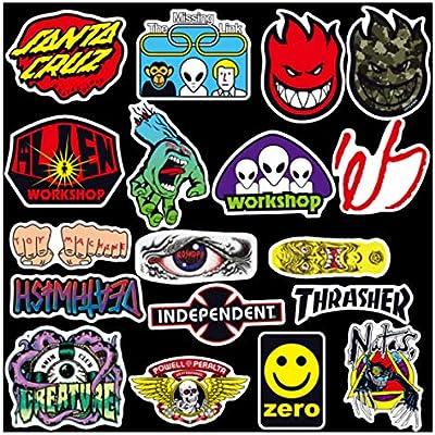 wendoudou 100 Skateboard Fashion Brand Logo Etiqueta Impermeable ...