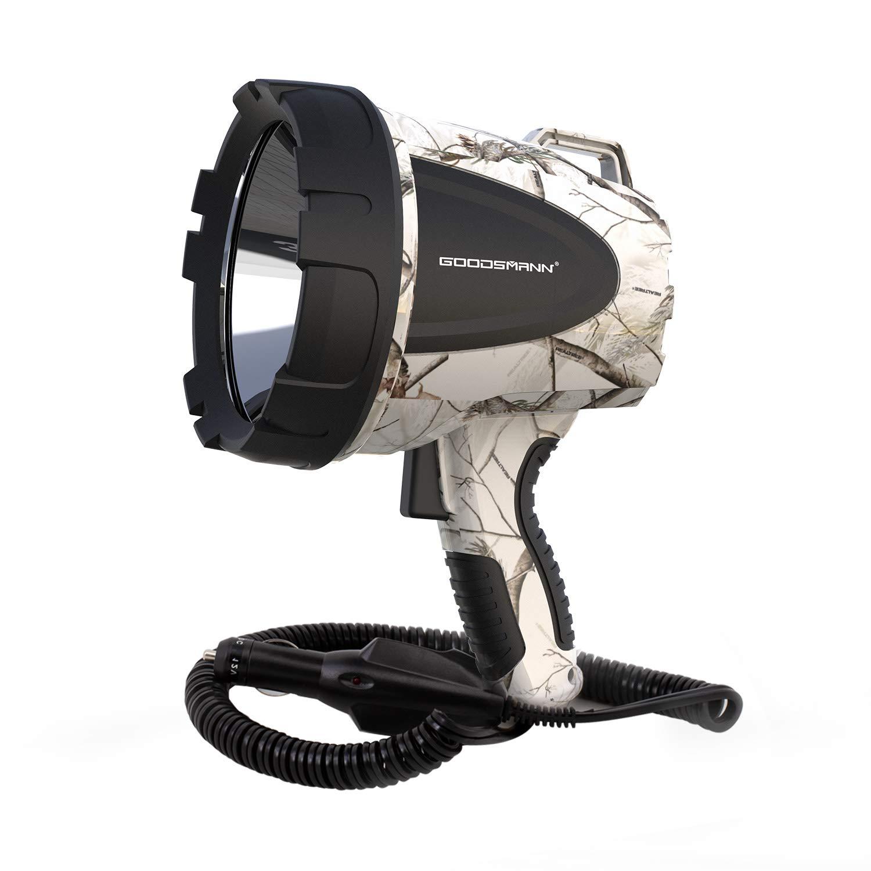 GOODSMANN Tacticpro RealTree AP-Snow Powerful 1500 Lumen 12V Bright High Intensity Halogen Flood/Spotlight With 12-Volt DC Plug 9924-H102-02
