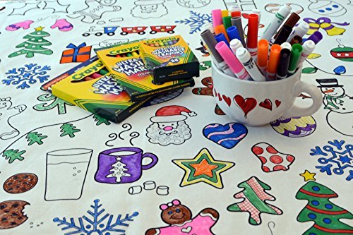 The Coloring Table - Colorable Holiday Tablecloth - Rectangle -