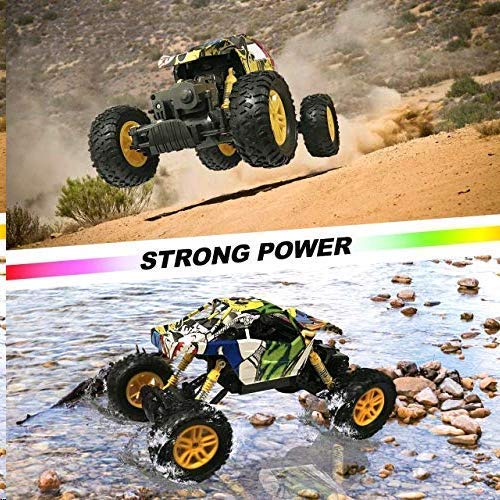 MaxTronic Coche RC 4x4 Radiocontrol 1:18 Juguete de Control Remoto 2.4Ghz 4WD RC Buggy Race Crawler
