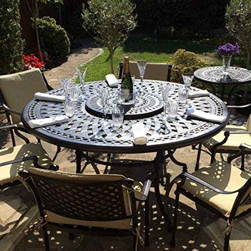 Lazy Susan - Table Ronde 150 cm Frances, 6 chaises de Jardin ...