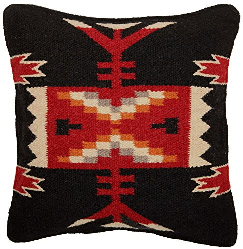 Throw Pillow Covers 18 X 18, Hand Woven Wool in Southwest, M