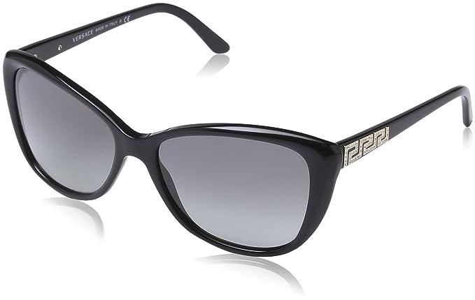 d9a33f4822e6 Versace Women s 4264B GB1 11 Frame  Black   Lens  Grey Cat-Eye ...