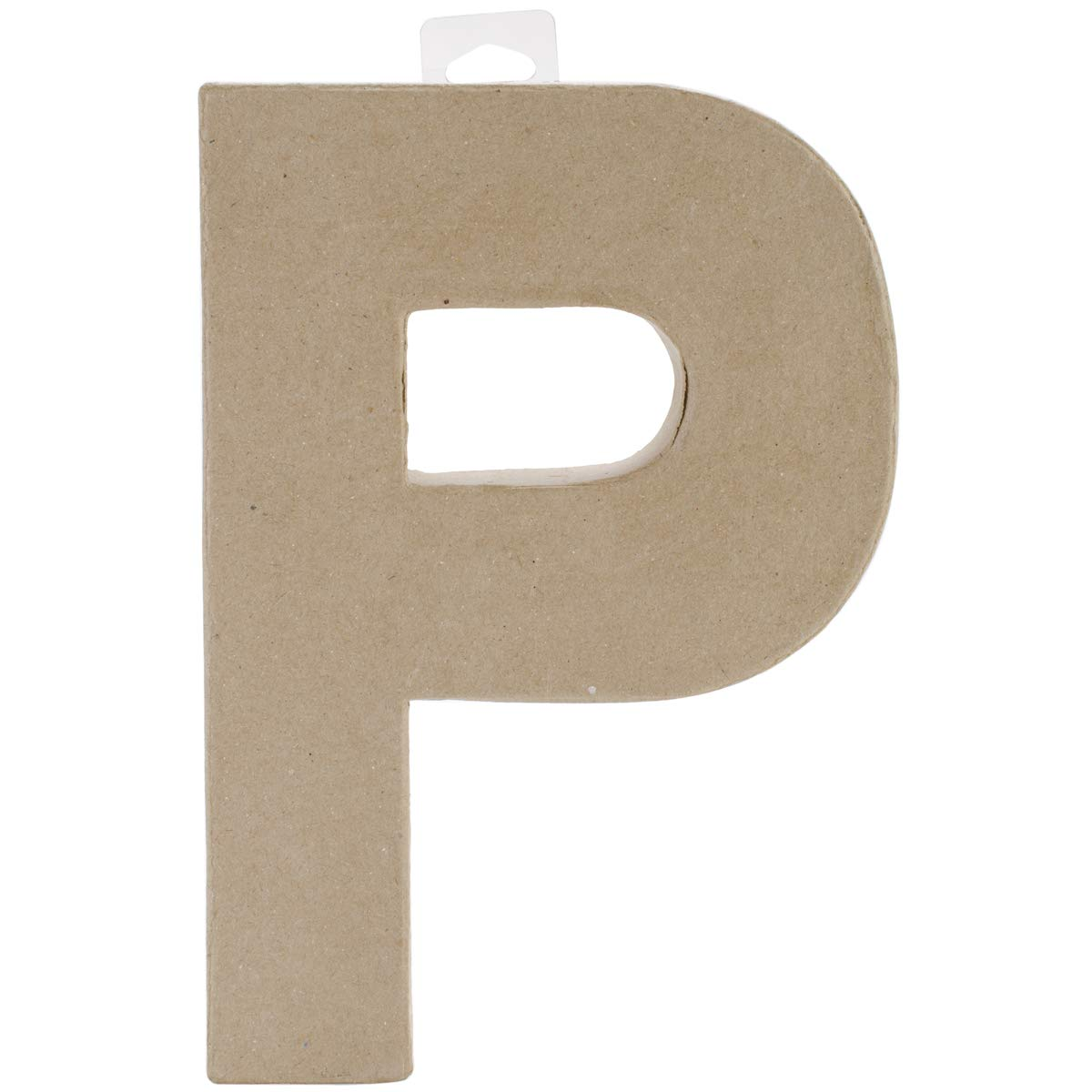 Darice Paper Mache Letter P 8 X 5.5 Inches (8 Pack)