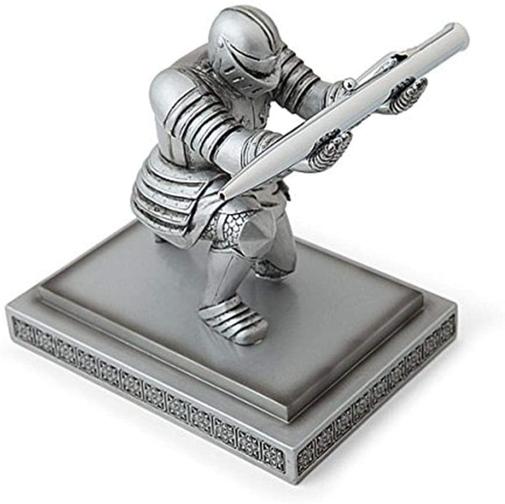 ThinkGeek Executive Knight Pen Holder - Fancy Black-Inked Pen with Refillable Ink Included - A ThinkGeek Creation and Exclusive