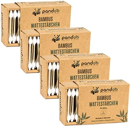 Pandoo 4 hisopos de algodón de bambú para bebés - 100 ...