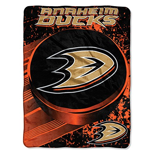 fan products of Officially Licensed NHL Anaheim Ducks Ice Dash Micro Raschel Throw Blanket, 46