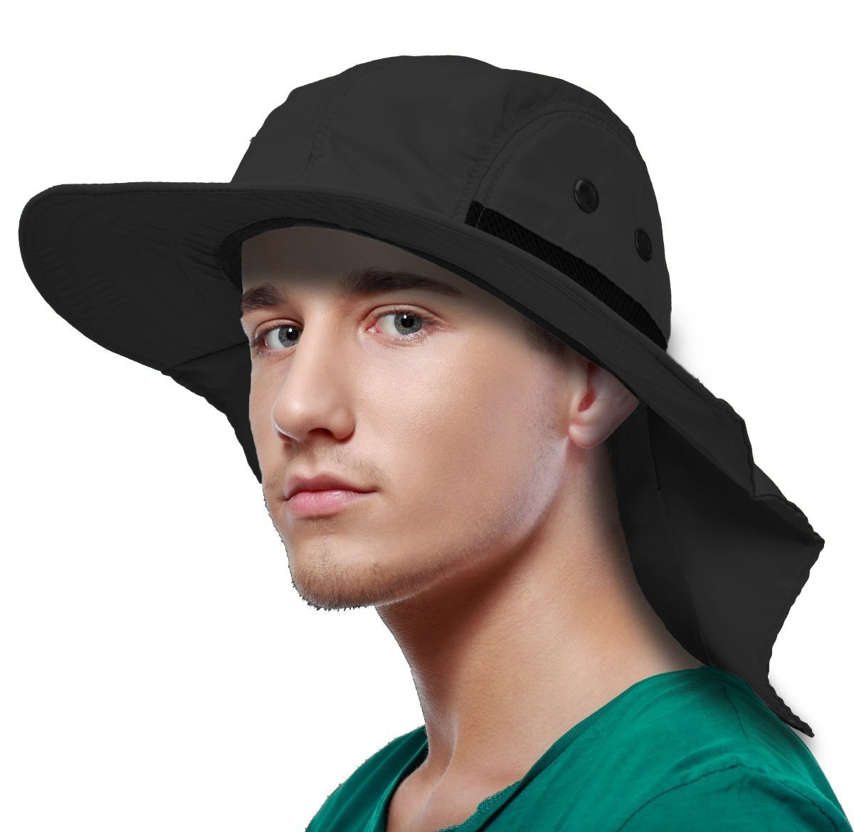 New Outdoor Foldable Sun Umbrella Hat Camping Headwear Foldable Head Cap USA KUS