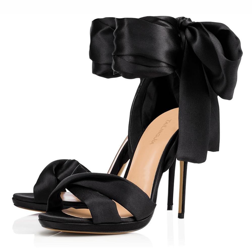 Elegant high schuhe Damen High Heels Heels High Spring Silk Hochzeit & Abend Stiletto Heel/Weitere Farben zur Verfügung schwarz 09d544