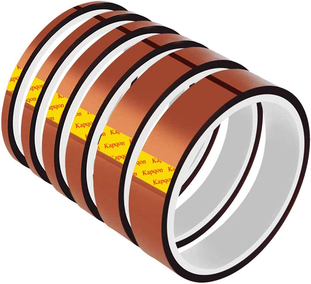 MMOBIEL 12mm ESD Heat Resistance Polyimide Tape Sticker Strong Adhesive 30 m Long Heat Resistant/up to 280/°C