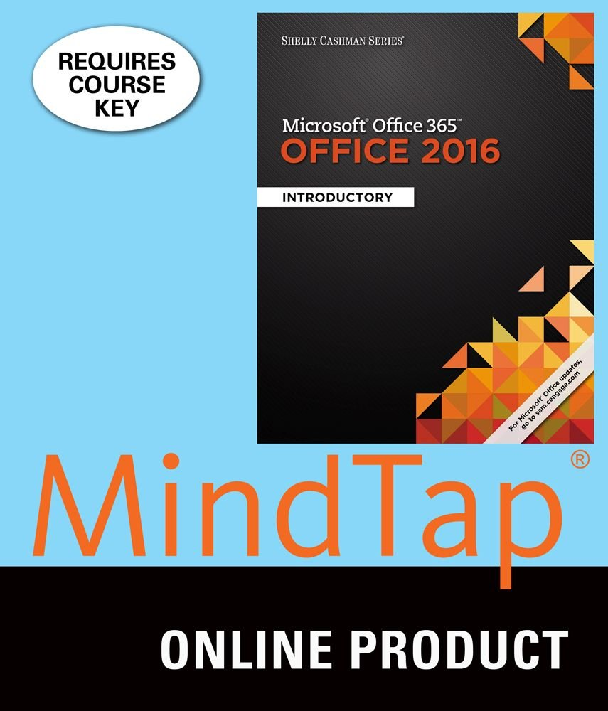 Amazon MindTap Computing For Microsoft Office 365 2016 Introductory With Mix 1st Edition Software