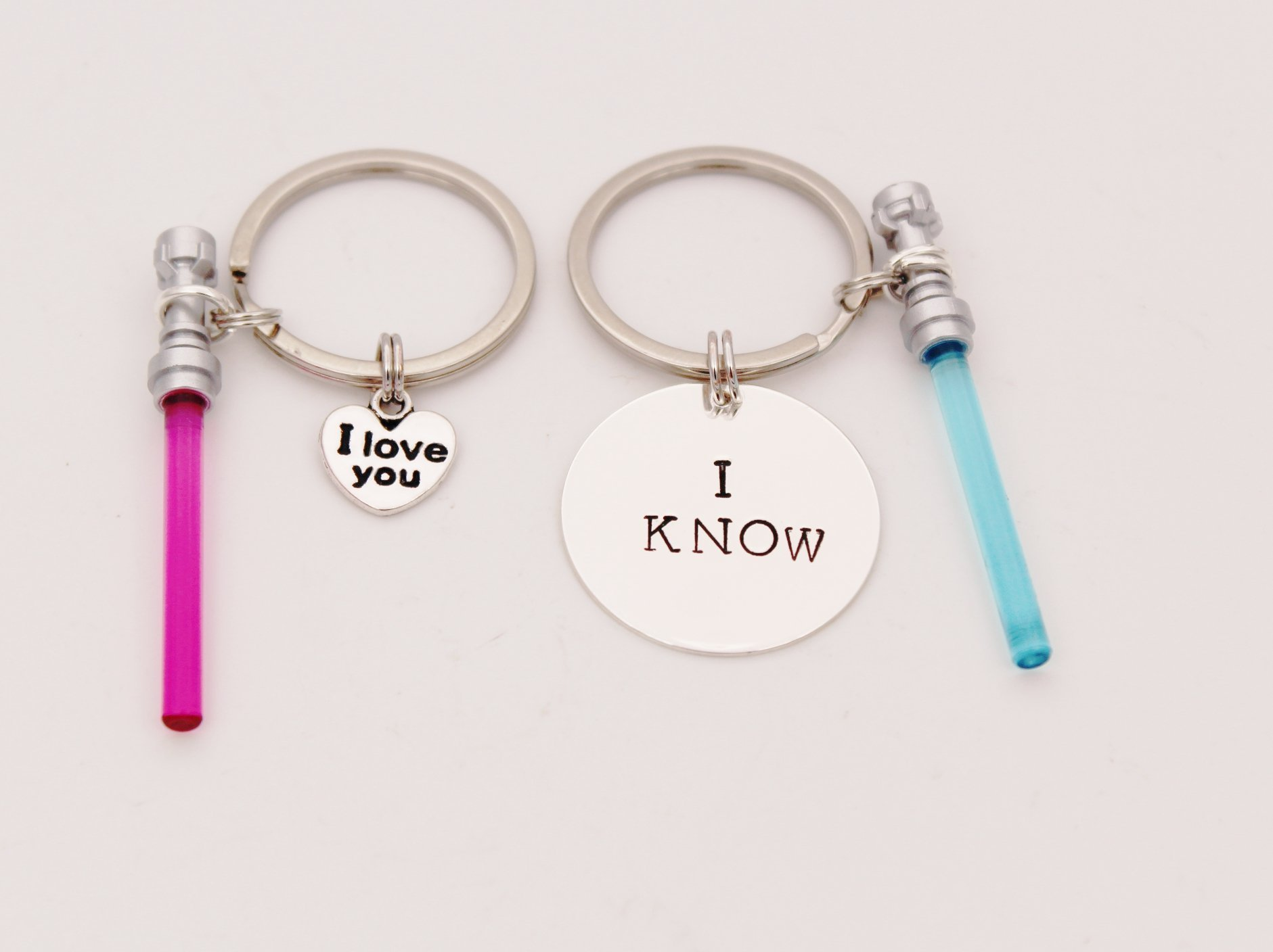 Star Wars Keychain, I LOVE YOU - I KNOW, Light saber Keychain