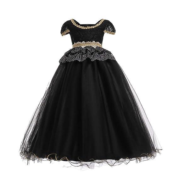 Lpattern Vestido De Noche Elegante Largo Para Niñas Vestido
