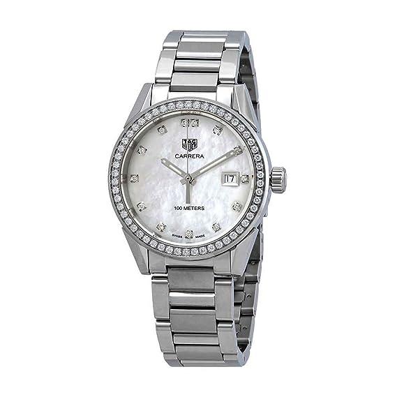 Tag Heuer WBG1315.BA0758 - Reloj para Mujer con Esfera de nácar y Diamantes: Amazon.es: Relojes