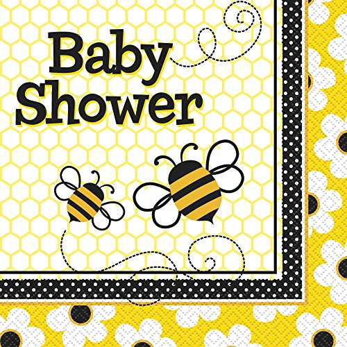 bumble bee shower napkins