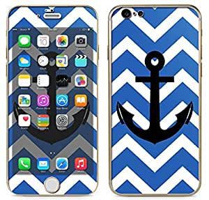 "Apple iPhone 6 - 4.7"" Screen Vinyl Skin Kit - Blue Chevron Pattern with Black Anchor"