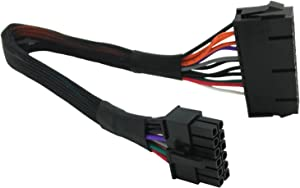 24 Pin to 12 Pin ATX PSU Main Power Adapter Braided Sleeved Cable for Acer Q87 Q87H3 Q87H3-AM 12-inch(30cm) COMeap