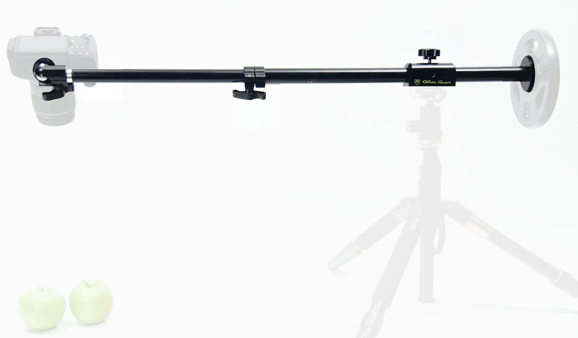 Glide Gear OH50 Camera/iPhone Photo Video Overhead Mount Stand Adjustable 36'' Pole Tripod Stand w/Ball Head