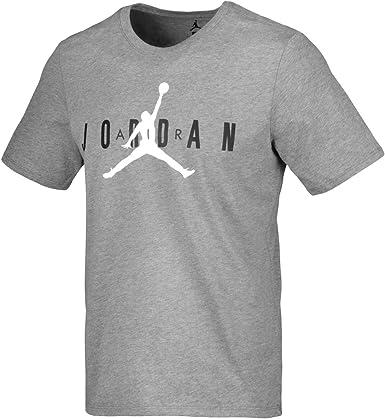 Jordan M jsw tee Air gx Camiseta, Hombre, Multicolor (Carbon Heather/Blanco): Amazon.es: Deportes y aire libre