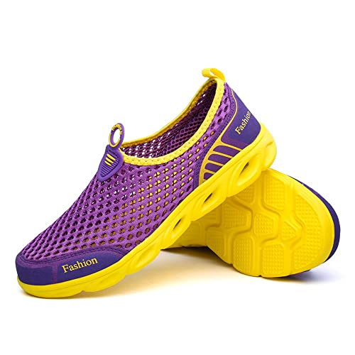 Zapatos de Agua de Mujer Slip Mesh en Ligeras Zapatillas de Deporte Transpirables Ocasionales: Amazon.es: Zapatos y complementos