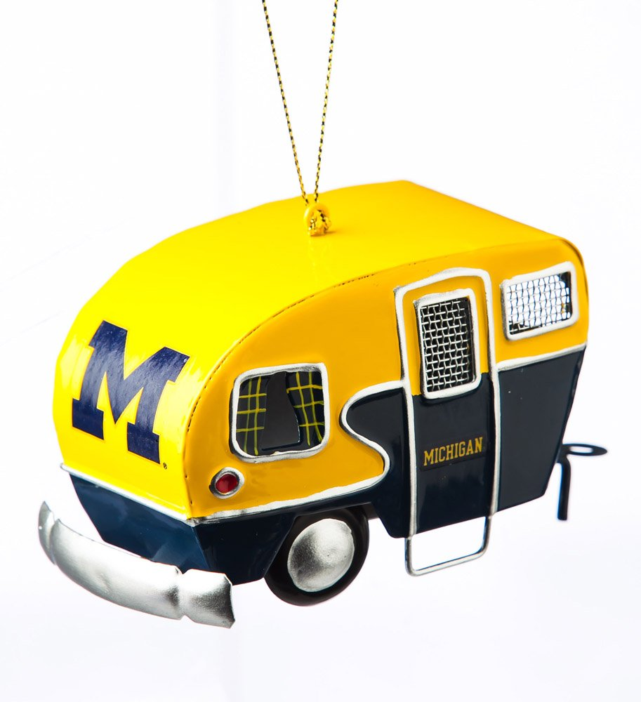 Team Sports America Metal Michigan Wolverines Camper Ornament