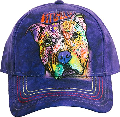 The Mountain Adult's Pitbull Luv Baseball Cap, Purple Adjustable