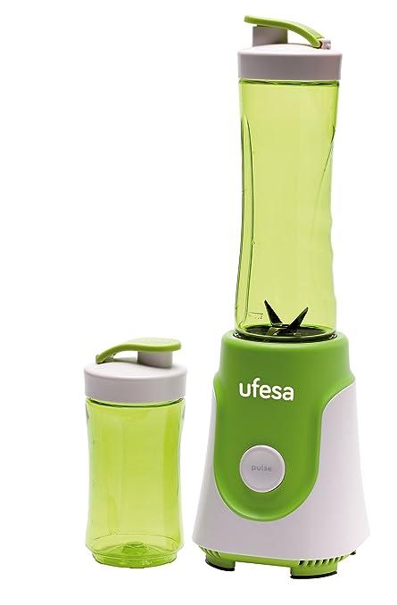 Ufesa BS1000 - Batidora de Vaso Personal, 250W, 0.6 L de Capacidad, Cuchillas de Acero Inoxidable Desmontables y aptas para Picar Hielo, sin BPA, 250 ...