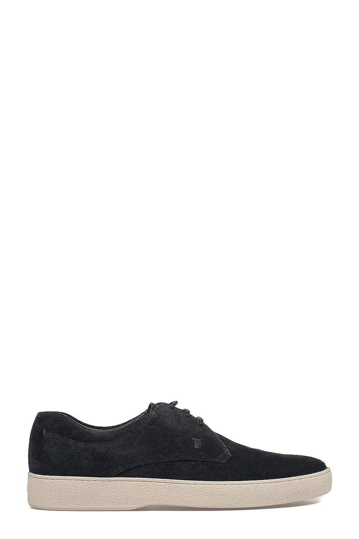 Tod's メンズ XXM22A00C20RE09999 ブラック セーム 運動靴 B07D9J8SFW