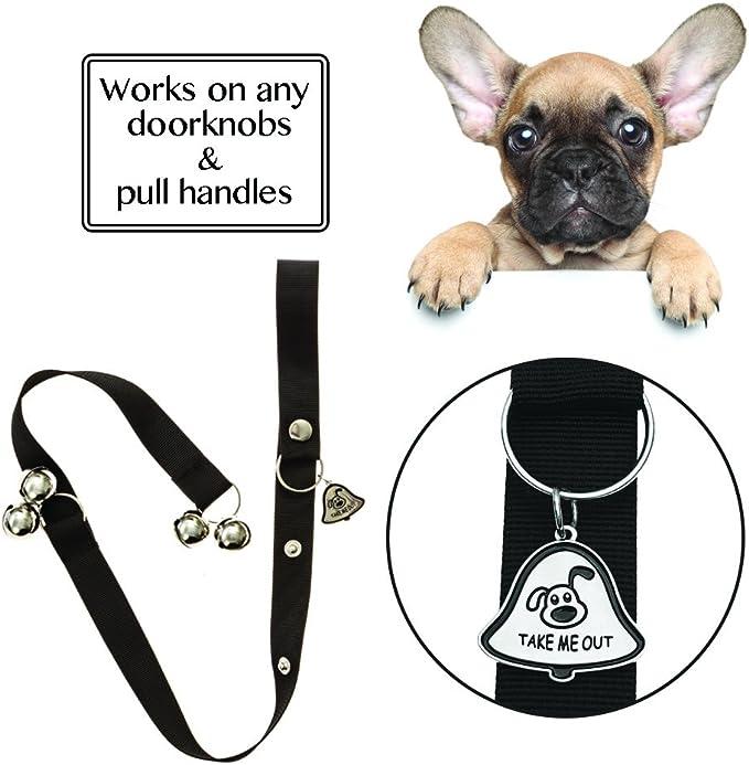 Kazma 5 in 1 Upgraded Dog Training Kit Upgraded Dog DoorBell Adjustable Dog Whistle Dog Clicker Dog Waste Bags Dispenser for Door Knob//Potty Training//Go Outside-Dog Bells//Dog Train