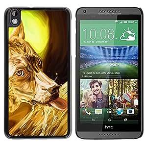 Be Good Phone Accessory // Dura Cáscara cubierta Protectora Caso Carcasa Funda de Protección para HTC DESIRE 816 // Golden Australian Terrier Sheep Corgi
