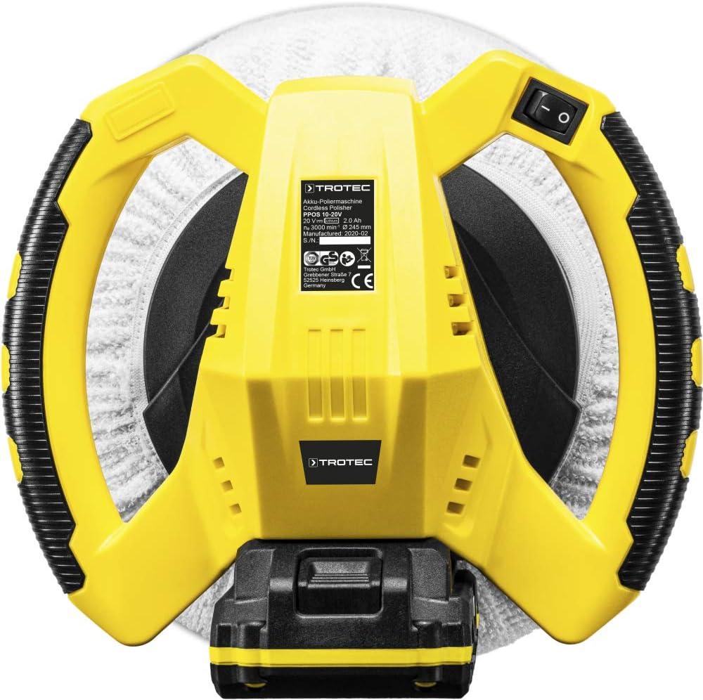 Incl TROTEC Lucidatrice a batteria PPOS 10-20V Lucidatrice per Auto caricabatterie 2x cappuccio di lucidatura batteria Flexpower Multi
