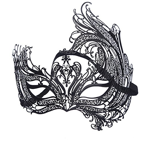 Geek-M Metal Laser Cut Masquerade Venetian Party Mask -