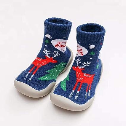 Amazon.com: Calcetines de Navidad para bebés y niñas, con ...