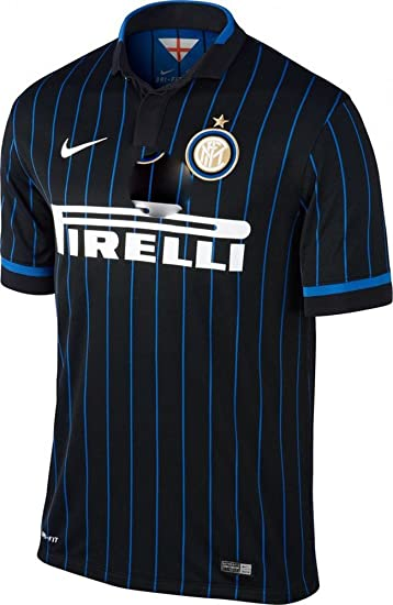 outlet store 70c52 c9281 Nike Inter Milan Home Soccer Jersey, Black/Blue