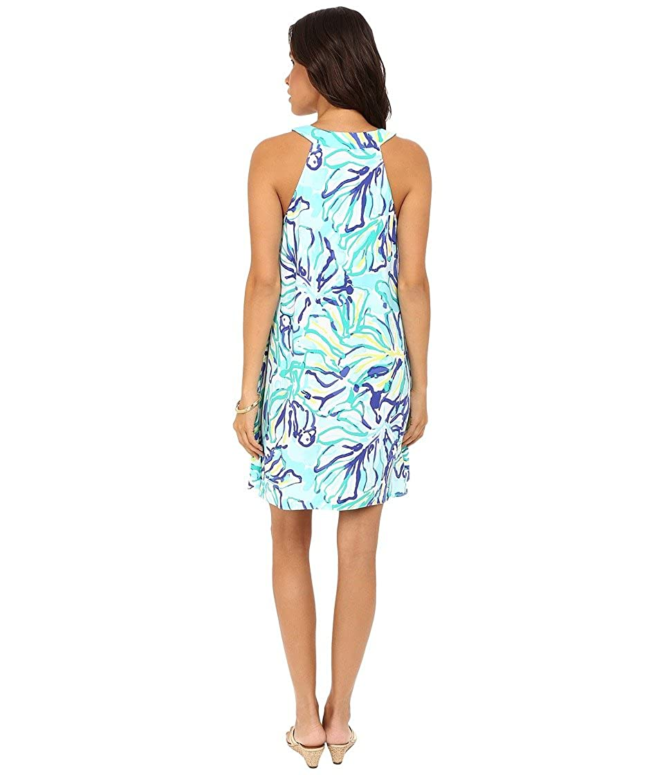 955cb671723c02 Lilly Pulitzer Women's Achelle Dress Pool Blue Stay Cool Dress XL at Amazon  Women's Clothing store: