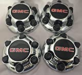 4 lug 17 inch rims set - REPLACEMENT PART: Set of 4 Chrome GMC Sierra Yukon Savana 6 Lug 1500 Center Caps 16