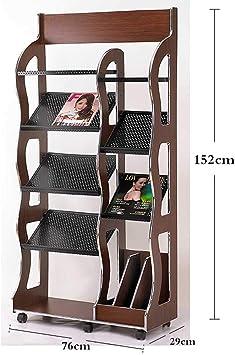 WCJ Nordic Magazine Rack Newspaper Rack Magazine Rack Floor Racks Wrought Iron Creative Office Display Shelf