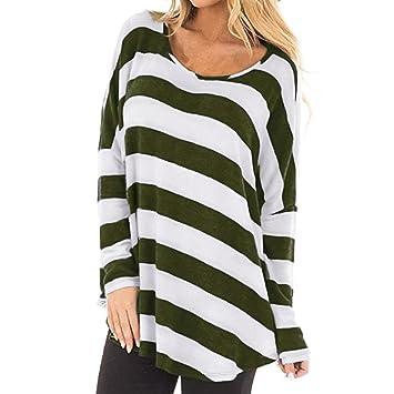 1a8a621d04509 Clearance Women's Striped Print Long Batwing Sleeve Autumn T-Shirt  Polyester Shirt Crop Top...