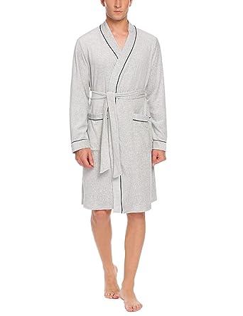 Schlaf- Und Hauskleidung Für Herren Langarm Robe Mann Pyjamas Bademantel Frühling Baumwolle GroßEr Ausverkauf Unterwäsche & Schlafanzug