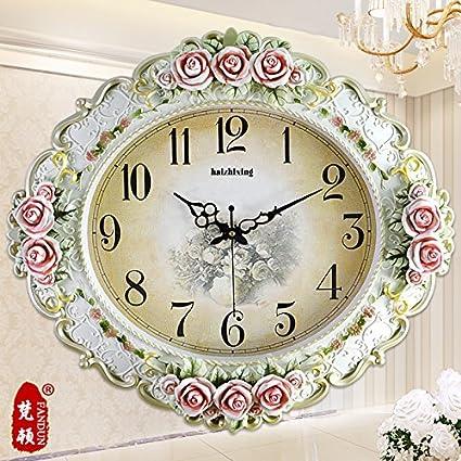Unión y American Vintage grandes relojes de pared hermosamente sencillo diseño creativo Salón Moderno reloj reloj